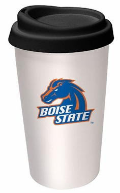 Boise State Ceramic Travel Cup