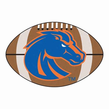 Boise State Football Shaped Rug