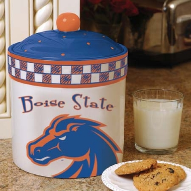 Boise State Gameday Ceramic Cookie Jar