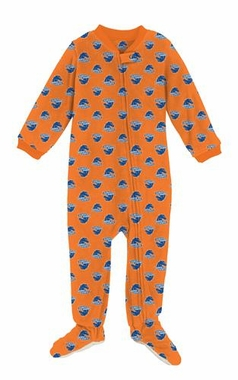 Boise State Infant Footed Full Zip Raglan Coverall Sleeper