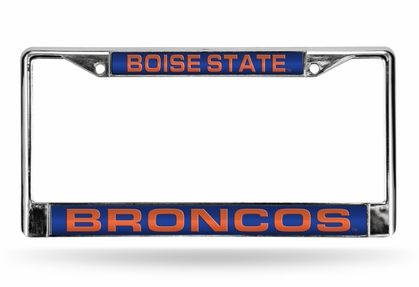 Boise State Laser Etched Chrome License Plate Frame