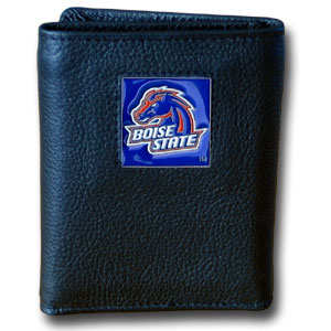 Boise State Leather Trifold Wallet (F)