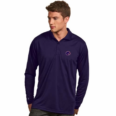Boise State Mens Long Sleeve Polo Shirt (Team Color: Royal)