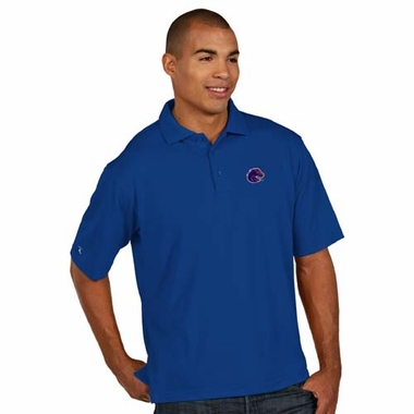 Boise State Mens Pique Xtra Lite Polo Shirt (Team Color: Royal)
