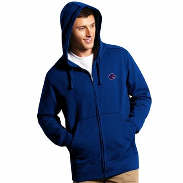 Boise State Mens Signature Full Zip Hooded Sweatshirt (Team Color: Royal)