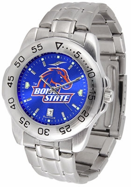 Boise State Sport Anonized Men's Steel Band Watch