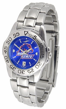 Boise State Sport Anonized Women's Steel Band Watch