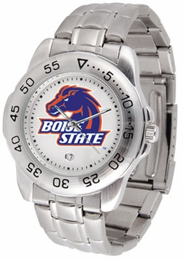 Boise State Sport Men's Steel Band Watch