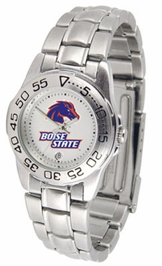 Boise State Sport Women's Steel Band Watch