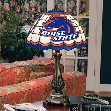 Boise State Stained Glass Table Lamp