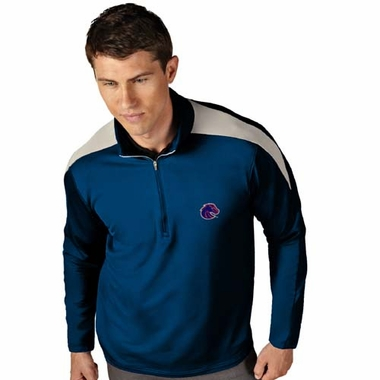 Boise State Mens Succeed 1/4 Zip Performance Pullover (Team Color: Royal)