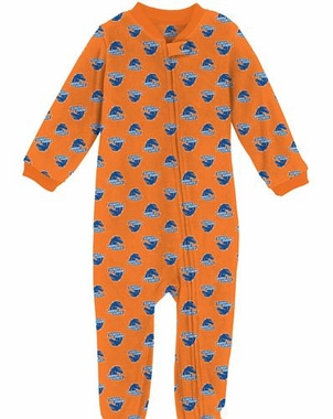 Boise State Toddler Zip Raglan Coverall Sleeper