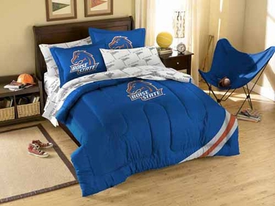 Boise State Twin Comforter and Shams Set