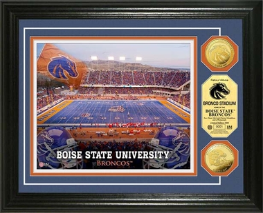 Boise State Broncos Boise State University Broncos Stadium 24KT Gold Coin Photomint