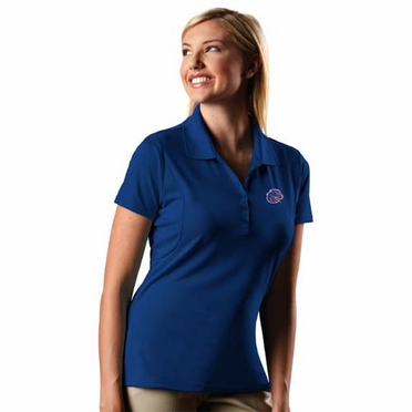Boise State Womens Pique Xtra Lite Polo Shirt (Team Color: Royal)