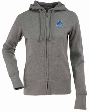 Boise State Womens Zip Front Hoody Sweatshirt (Color: Gray)