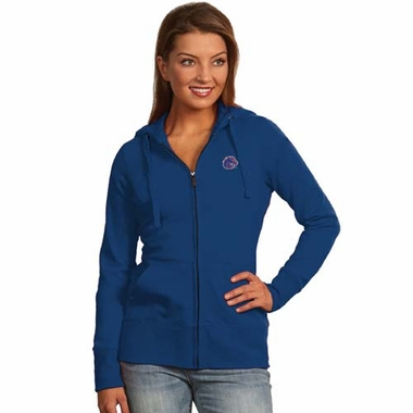 Boise State Womens Zip Front Hoody Sweatshirt (Team Color: Royal)
