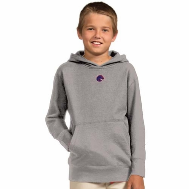 Boise State YOUTH Boys Signature Hooded Sweatshirt (Color: Gray)