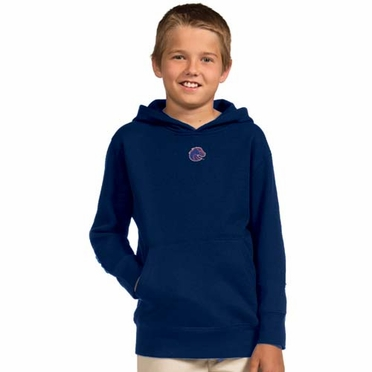 Boise State YOUTH Boys Signature Hooded Sweatshirt (Team Color: Navy)