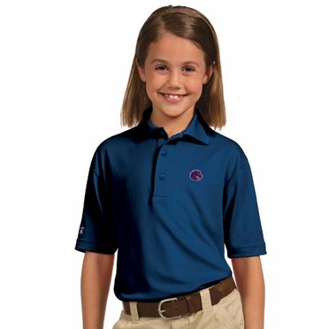 Boise State YOUTH Unisex Pique Polo Shirt (Team Color: Royal)