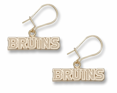 Boston Bruins 10K Gold Post or Dangle Earrings