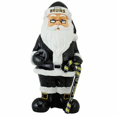 Boston Bruins 11 Inch Resin Team Santa Figurine
