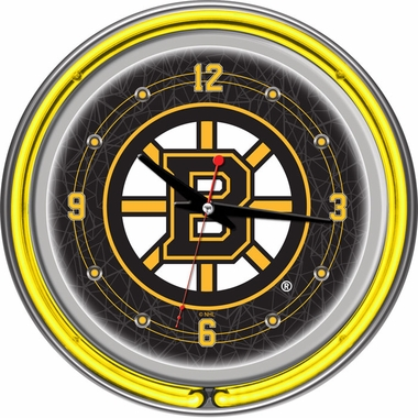Boston Bruins 14 Inch Neon Clock