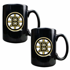 Boston Bruins 2 Piece Coffee Mug Set