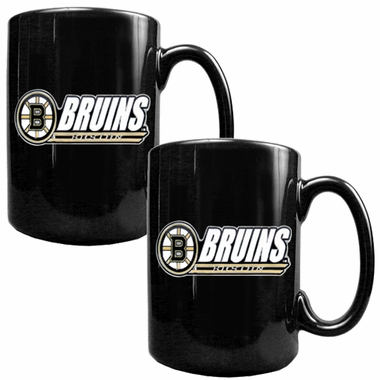 Boston Bruins 2 Piece Coffee Mug Set (Wordmark)