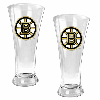 Boston Bruins 2 Piece Pilsner Glass Set