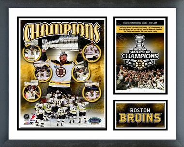 Boston Bruins 2011 NHL Stanley Cup Champions Framed Milestones & Memories