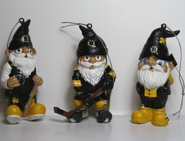 Boston Bruins 2012 Gnome 3 Pack Ornament Set