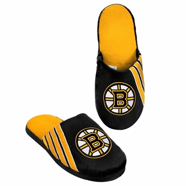 Boston Bruins 2012 Team Stripe Logo Slippers
