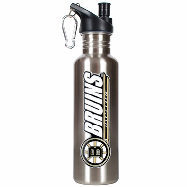Boston Bruins 26oz Stainless Steel Water Bottle (Silver)