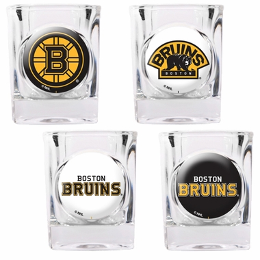 Boston Bruins 4 Piece Assorted Shot Glass Set