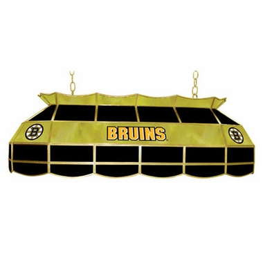 Boston Bruins 40 Inch Rectangular Stained Glass Billiard Light