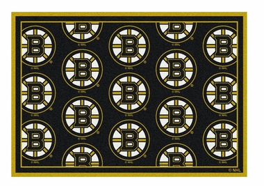 "Boston Bruins 5'4"" x 7'8"" Premium Pattern Rug"