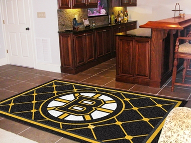 Boston Bruins 5 Foot x 8 Foot Rug