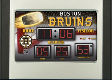 Boston Bruins Alarm Clock Desk Scoreboard