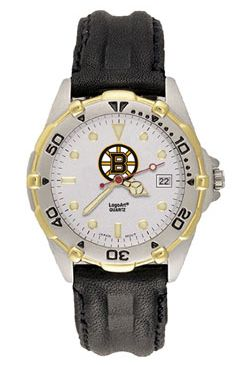 Boston Bruins All Star Mens (Leather Band) Watch