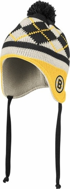 Boston Bruins Argyle Tassel Knit Hat