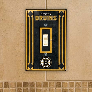 Boston Bruins Art Glass Lightswitch Cover