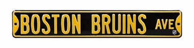 Boston Bruins Ave Street Sign