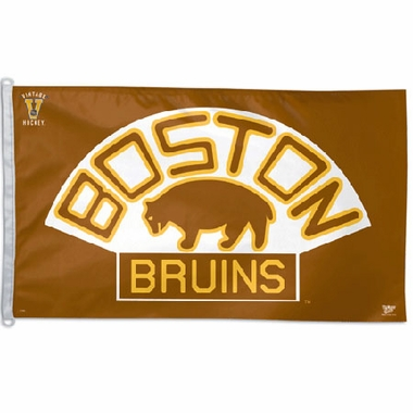 Boston Bruins Big 3x5 Flag (Throwback)