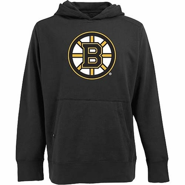 Boston Bruins Big Logo Mens Signature Hooded Sweatshirt (Team Color: Black)