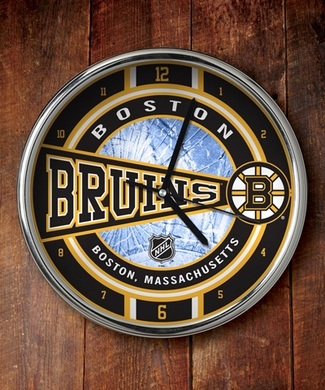 Boston Bruins Chrome Clock