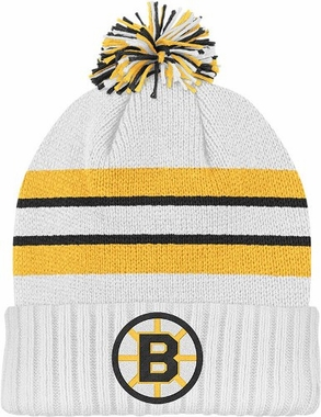 Boston Bruins Cuffed Knit Pom Hat