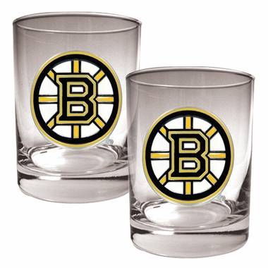 Boston Bruins Double Rocks Set