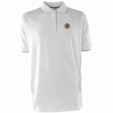 Boston Bruins Mens Elite Polo Shirt (Color: White)