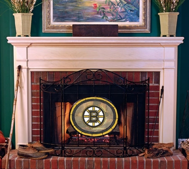 Boston Bruins Fireplace Screen